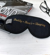 Daddy Bear's Sleeping Luxury Denim Sleep Mask