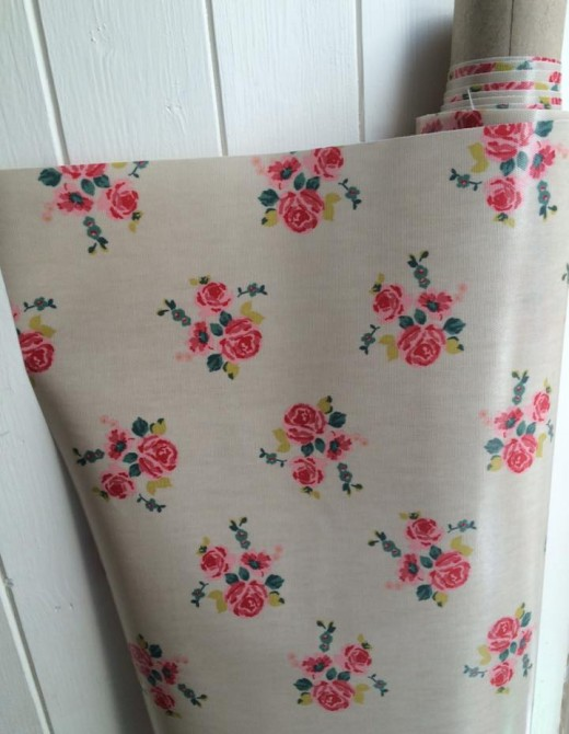 Oilcloth Fabric Floral Print