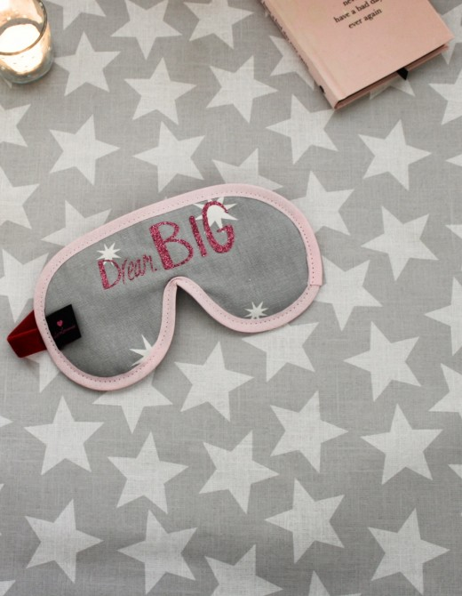 Sleep Mask with Lavender 'Dream Big' Print