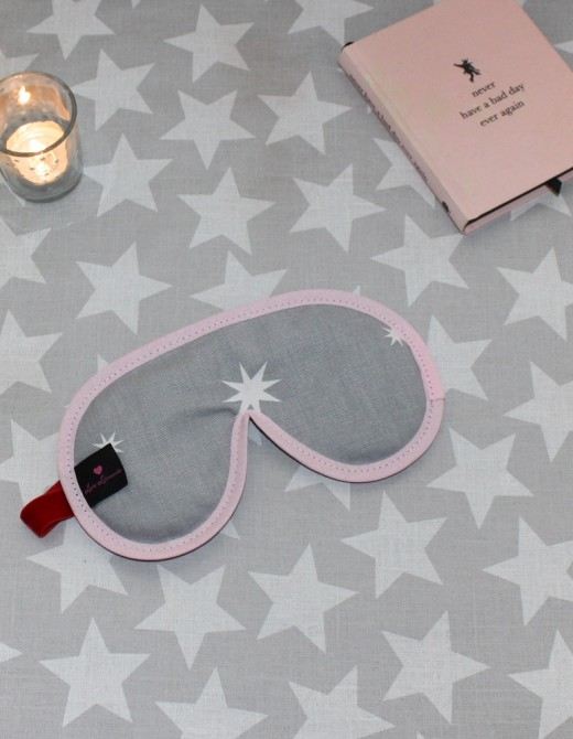 Luxury Sleep Mask with Lavender Twinkly Star Print