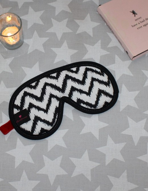 Luxury Sleep Mask with Lavender Zig Zag Design
