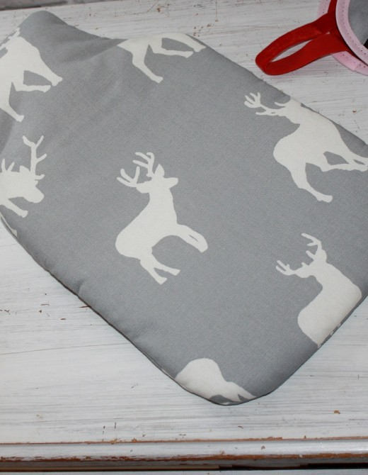 Hot Water Bottle Stag Print