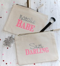 Personalised Valentines Print Pouch