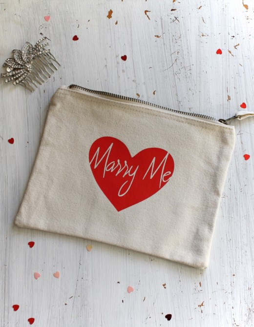Marry Me Cotton Pouch