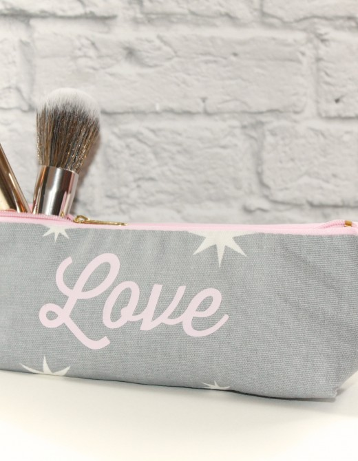 Valentine Love Print Make Up Bag