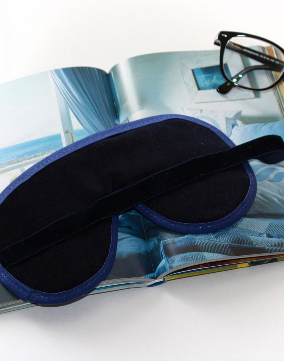 Navy Spot Sleep Mask