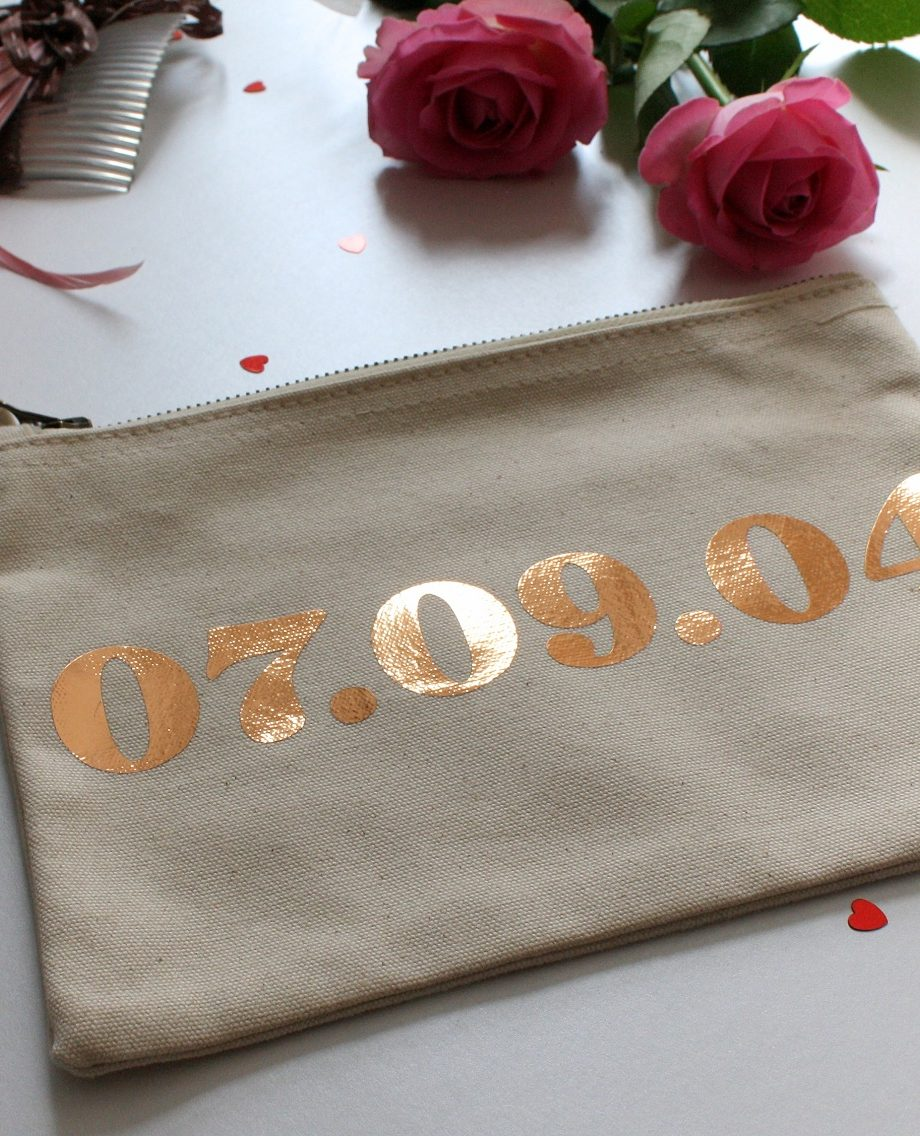 Personalised Date Print Pouch