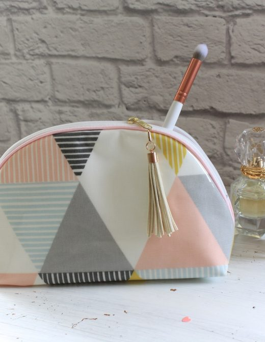 Luella Geometric Olicloth Make Up Bag