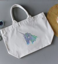 Unicorn Rainbow Foil Print Tote Bag