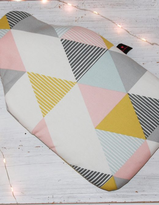 Geometric Print Hot Water Bottle