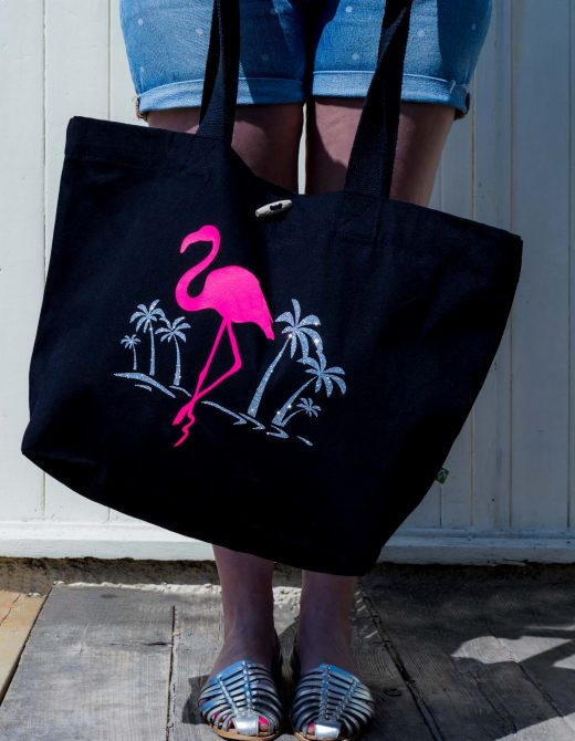 Flamingo-Print-Canvas-Beach-Bag