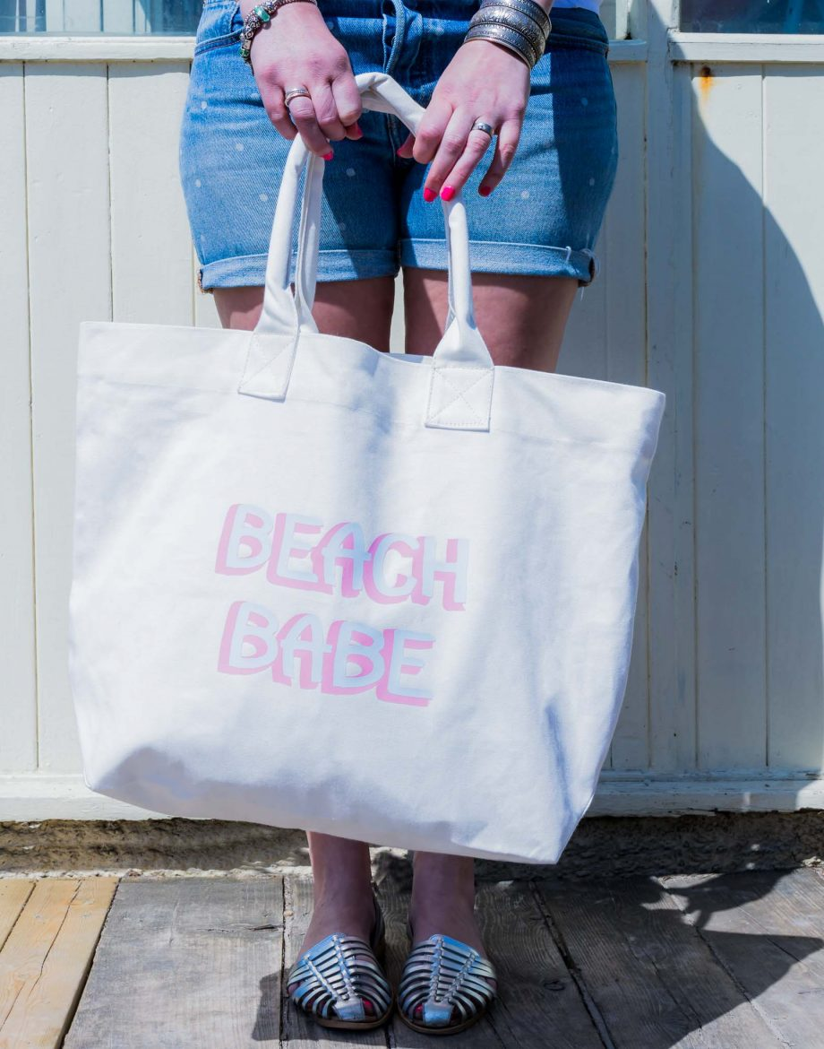 Canvas-beach-Bag-Beach-Babe