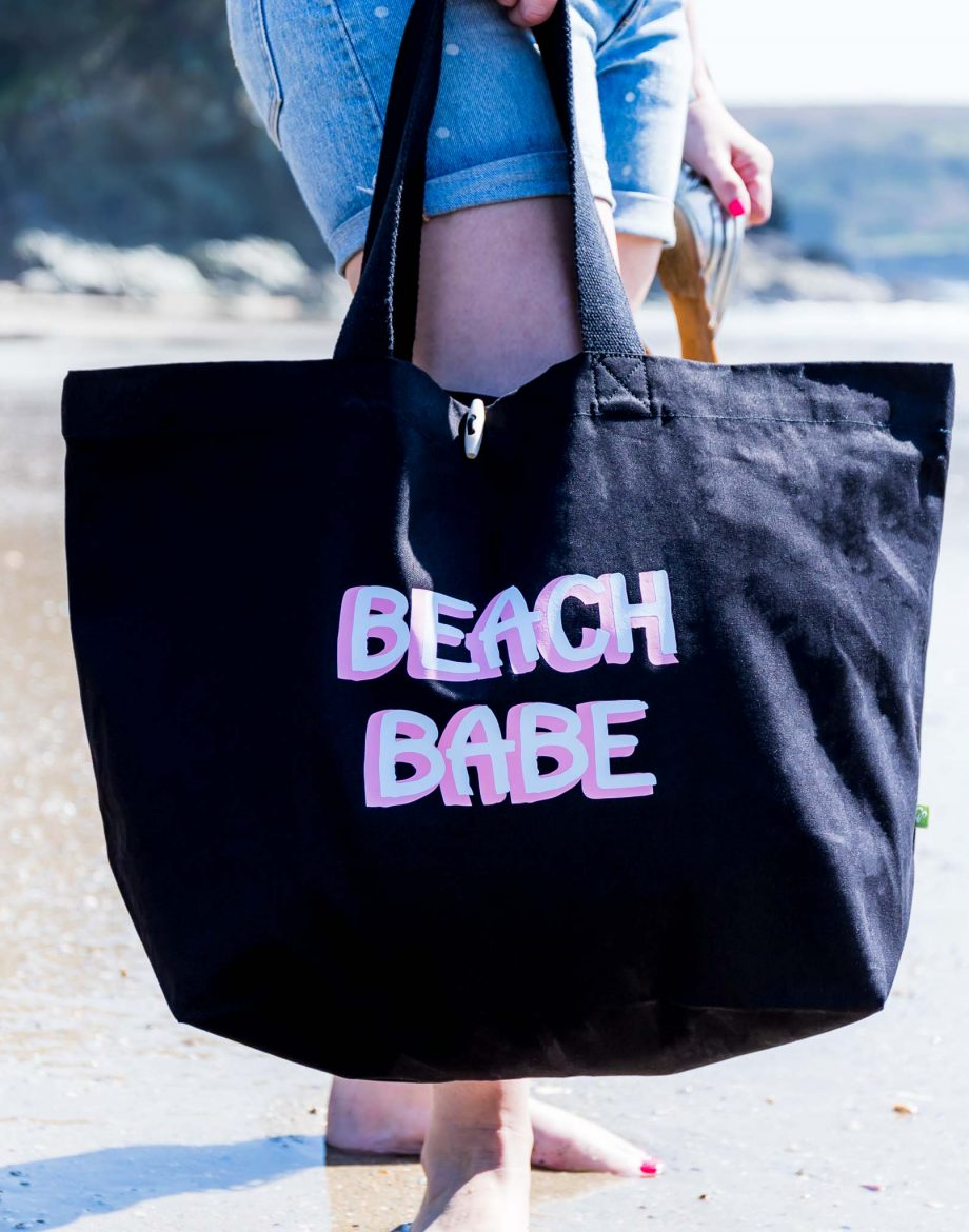 Canvas-Beach-Bag-beach-Babe-Print