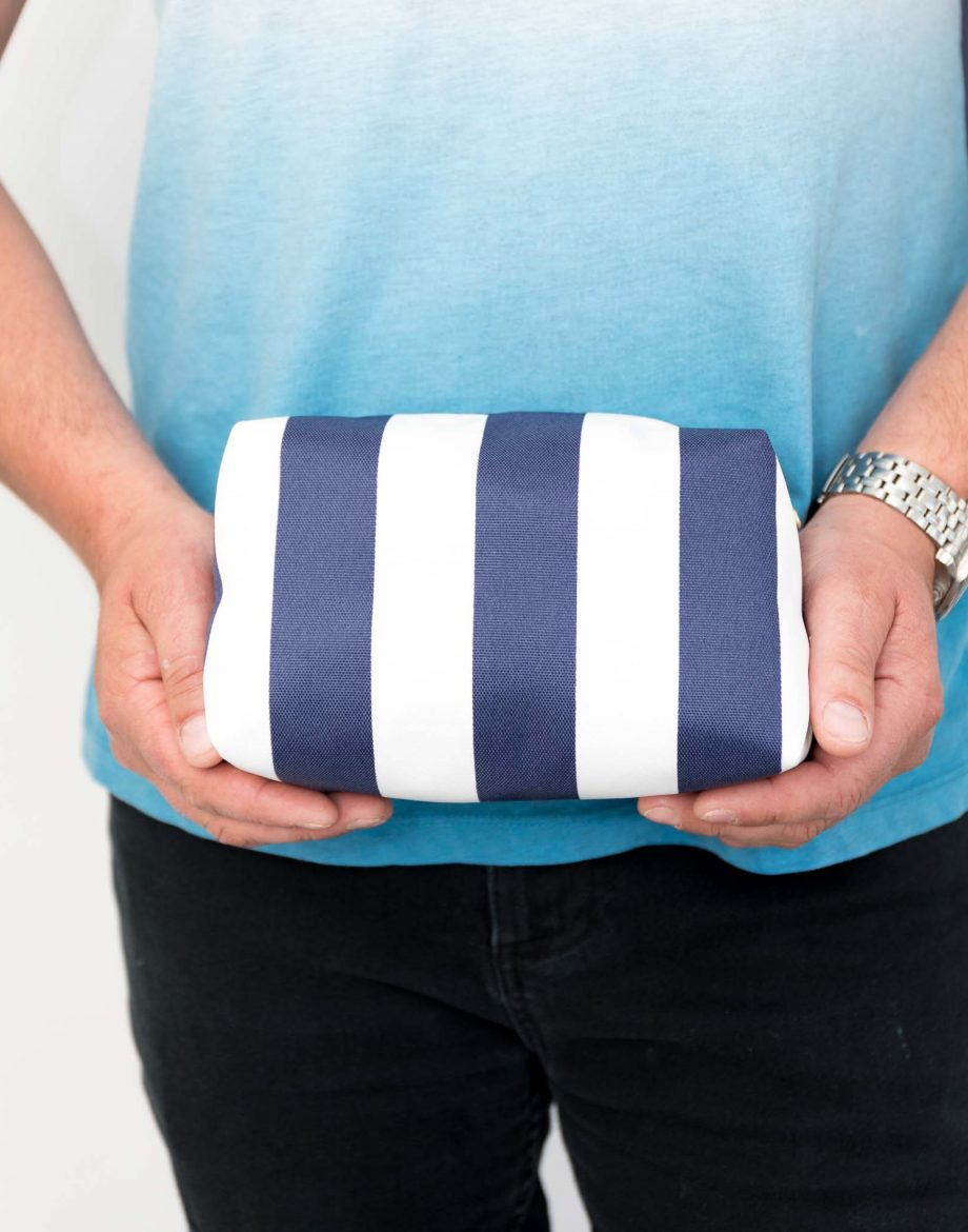 Men's Nautical Stripe Boxy Wash Bag