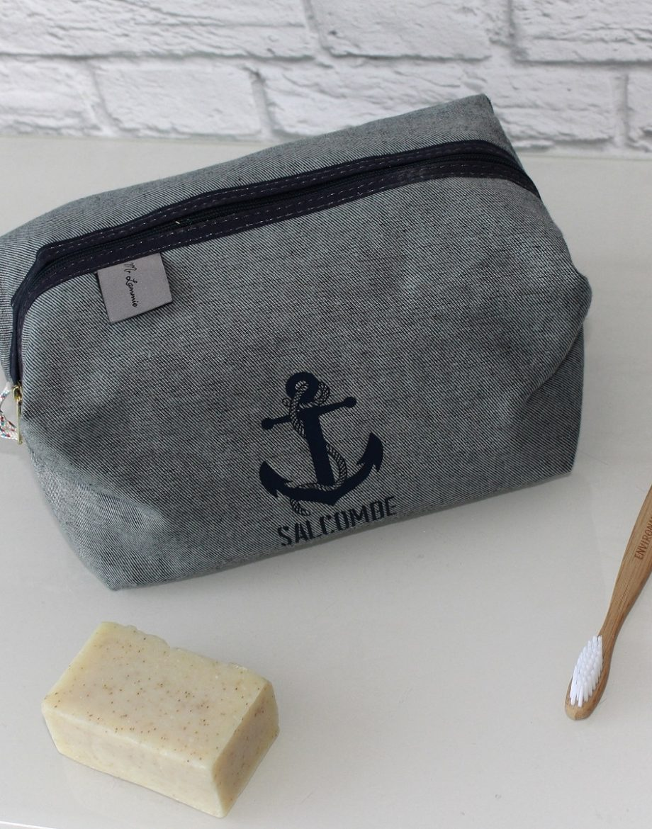 Men's-Reverse-Denim-Salcombe-Anchor-Print-Wash-Bag