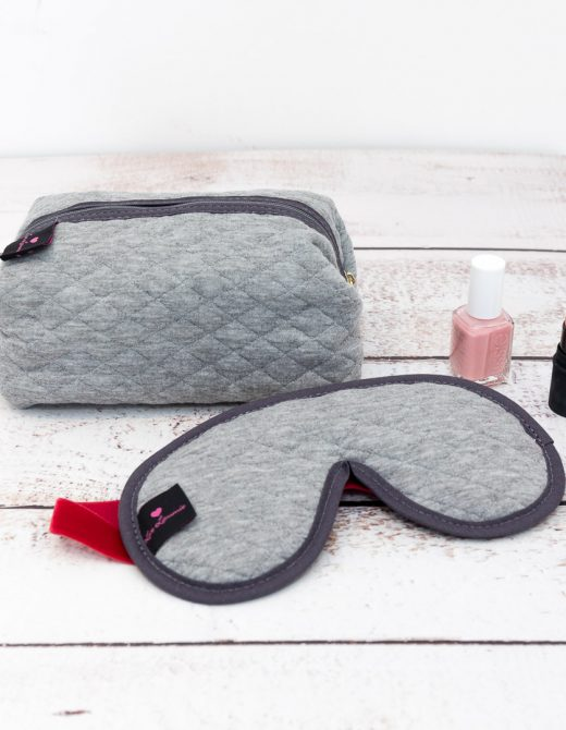 Gift Set Sleep Mask with Lavender & Make Up Bag