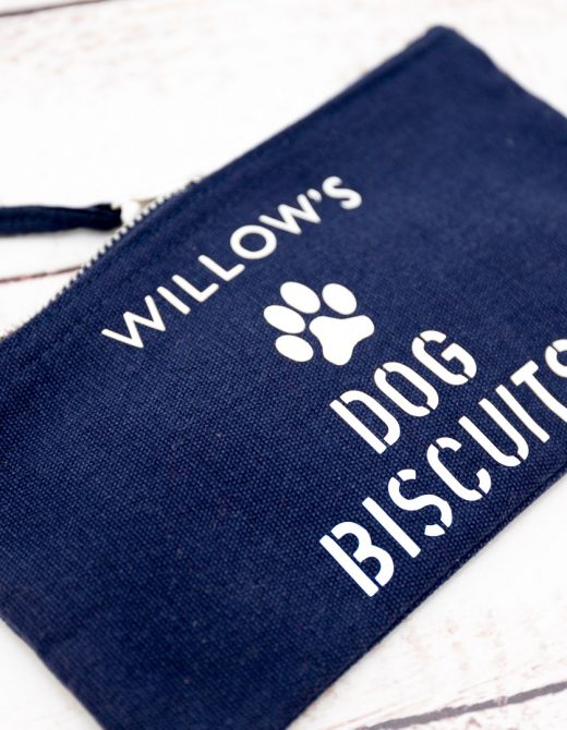 Personalised Dog Biscuit Pouch