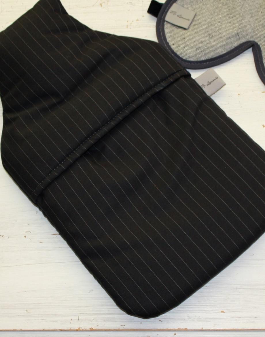 Personalised Hot Water Bottle Pinstripe