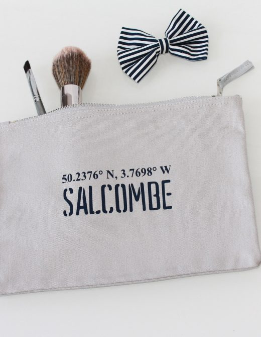 Clutch-Pouch-Grey-Canvas-Salcombe-Coordinates Print