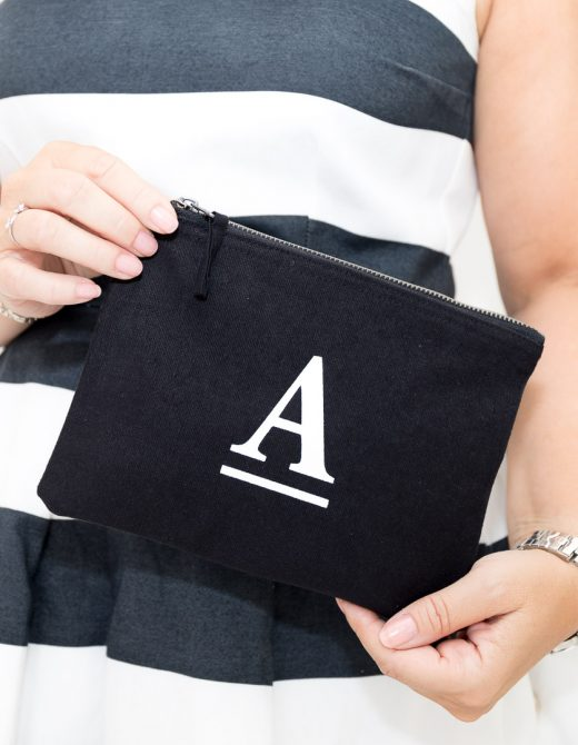 Personalised Letter Print Clutch