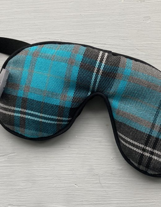 Blue-Tartan-Sleep-Mask