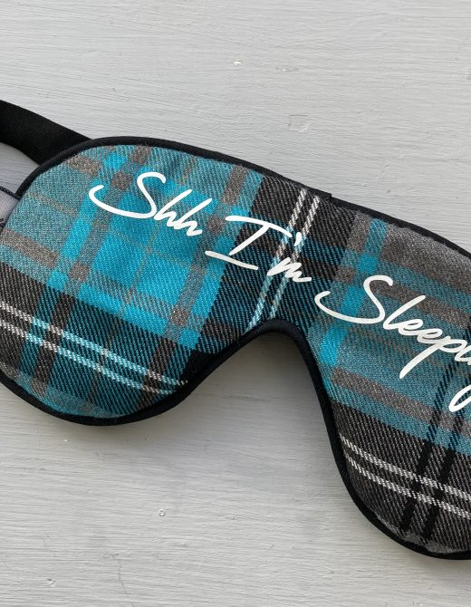 Personalised-Tartan-Sleep-Mask