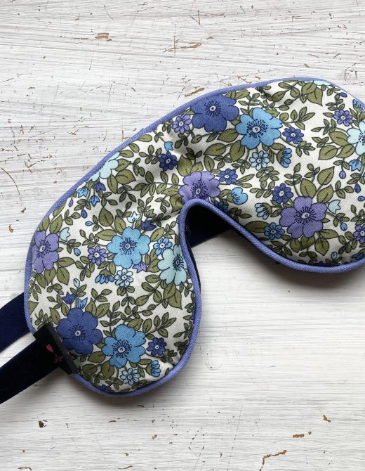 Cornflower-Vintage-Floral-Print-Sleep-Mask