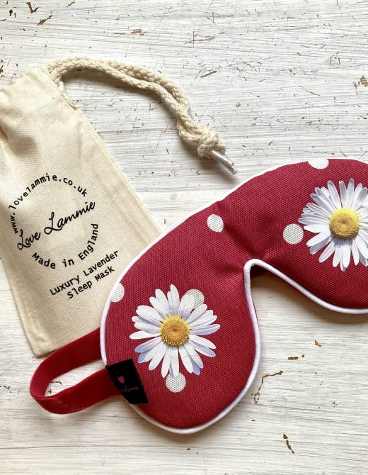 Daisy-Red-Spot-Sleep-Mask