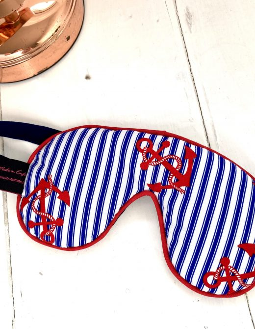 Sleep-Mask-Navy-Stripe-Anchor-Print