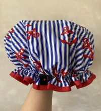 Shower-Cap-Navy-Stripe-Anchor-Print